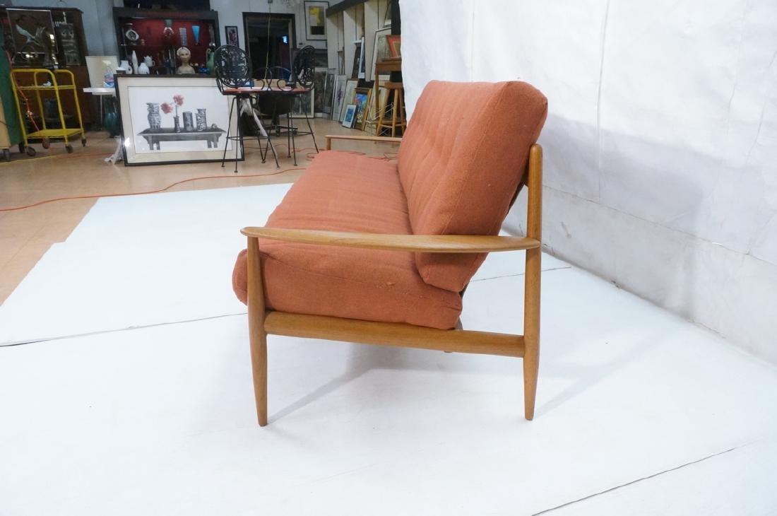 Danish Modern Teak Sofa Couch. Wide bowed paddle - 5