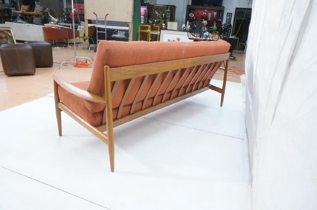 Danish Modern Teak Sofa Couch. Wide bowed paddle - 6