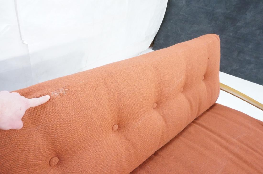 Danish Modern Teak Sofa Couch. Wide bowed paddle - 8