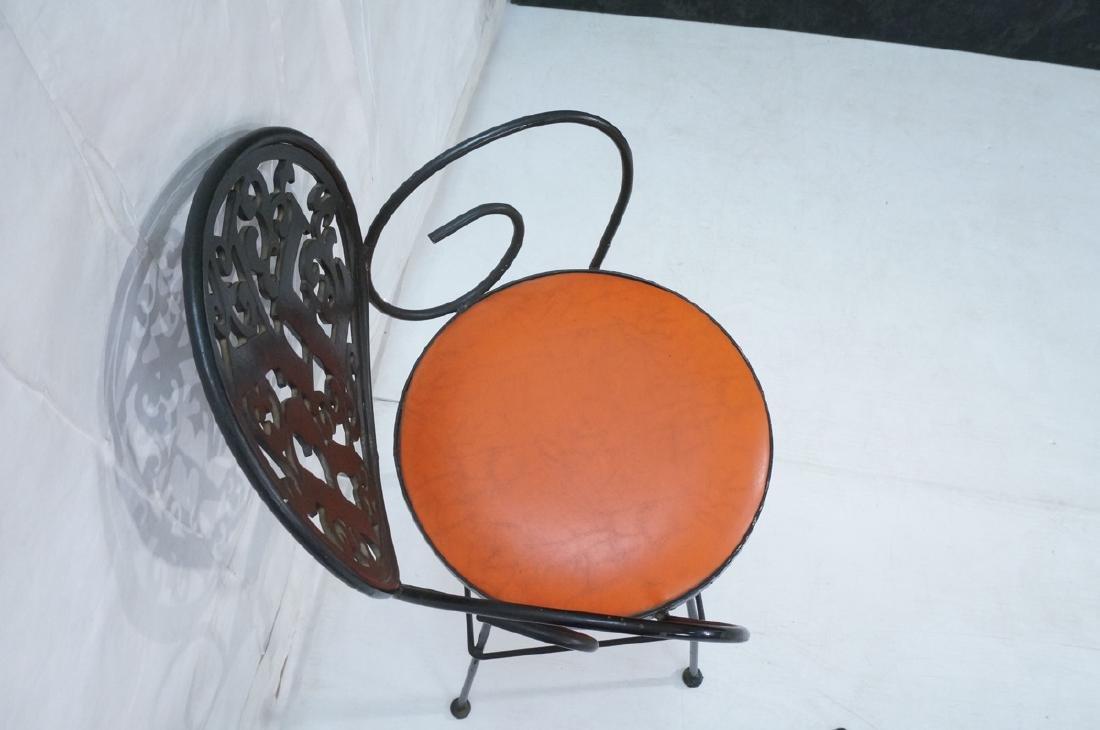 Pr ARTHUR UMANOFF Cast Iron Bar Stools. Circular - 7
