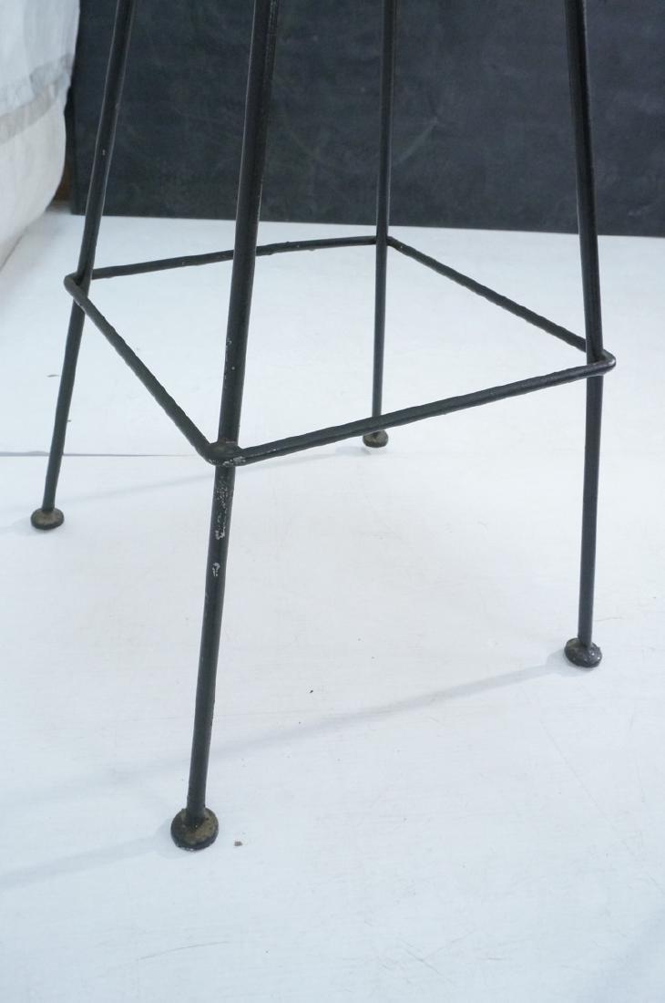 Pr ARTHUR UMANOFF Cast Iron Bar Stools. Circular - 8