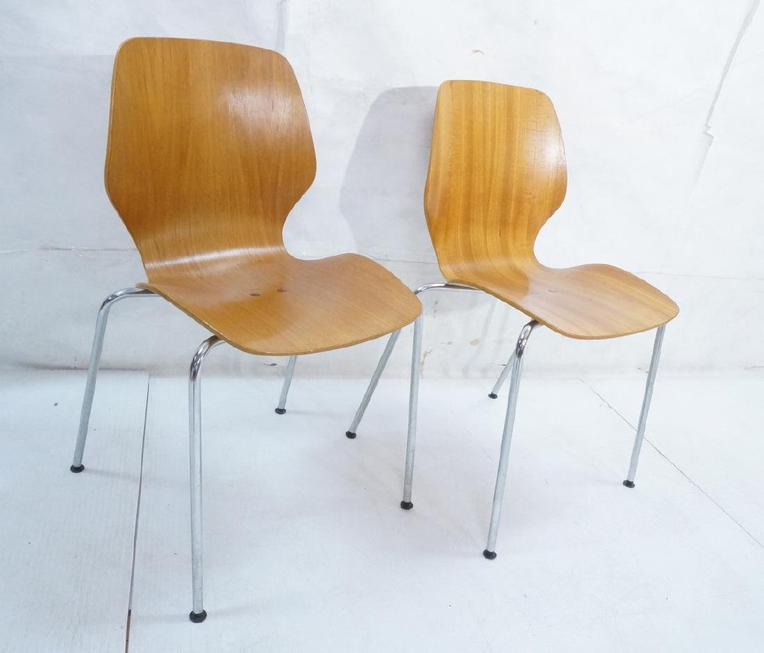 Pr WESTNOFA Laminated Wood Nesting Ant Chairs. Ch