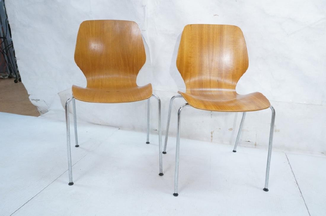 Pr WESTNOFA Laminated Wood Nesting Ant Chairs. Ch - 2