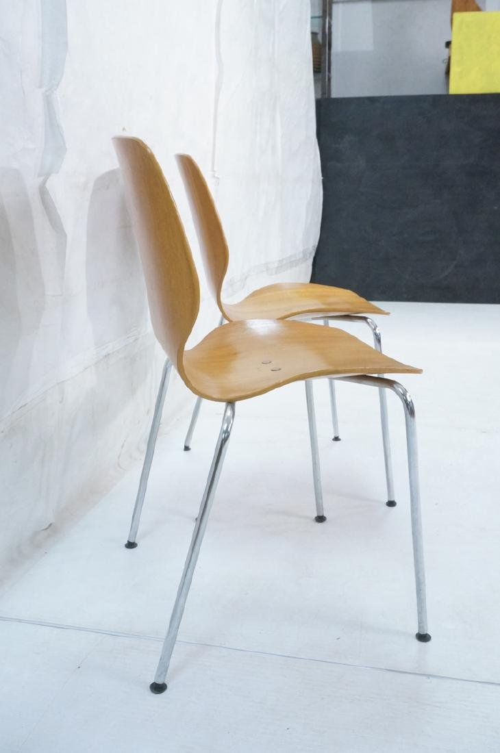 Pr WESTNOFA Laminated Wood Nesting Ant Chairs. Ch - 3