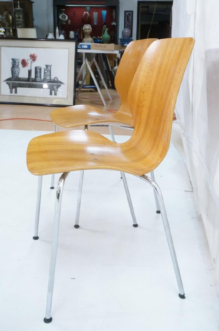 Pr WESTNOFA Laminated Wood Nesting Ant Chairs. Ch - 4