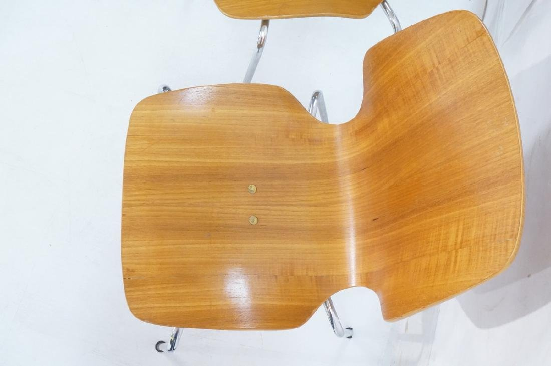 Pr WESTNOFA Laminated Wood Nesting Ant Chairs. Ch - 5