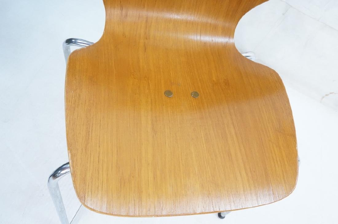 Pr WESTNOFA Laminated Wood Nesting Ant Chairs. Ch - 8