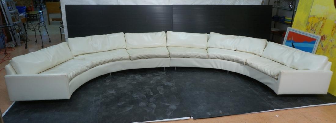 MILO BAUGHMAN for THAYER COGGIN Off White Sofa. S