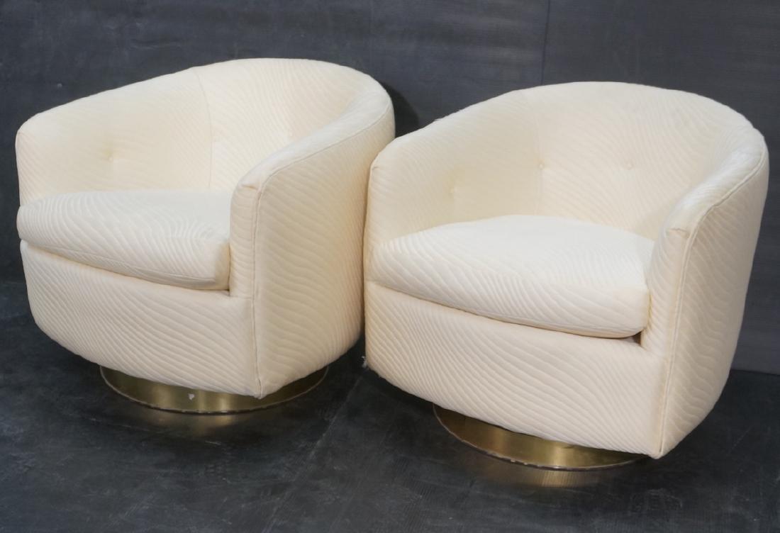 Pr THAYER COGGIN by MILO BAUGHMAN Swivel Chairs.