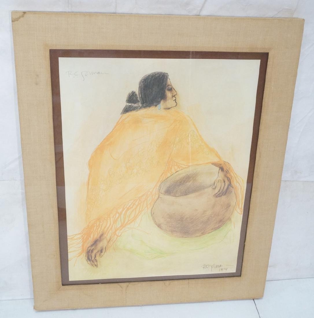 Signed R.C. GORMAN Color Lithograph. Native Ameri