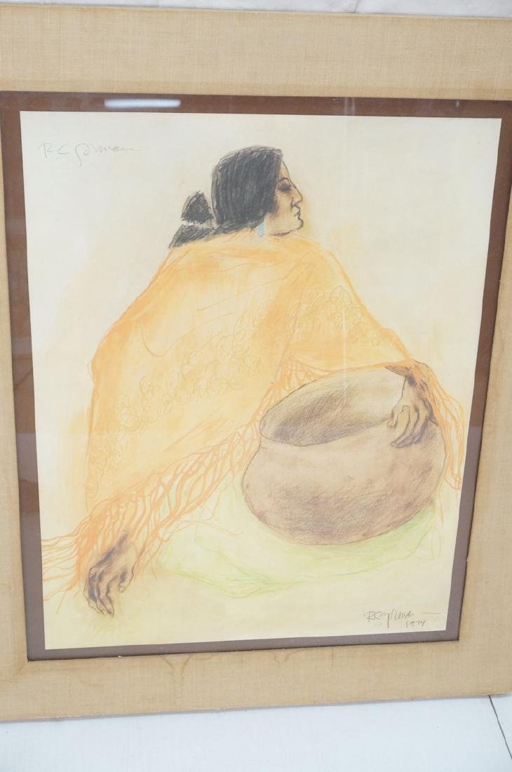 Signed R.C. GORMAN Color Lithograph. Native Ameri - 2