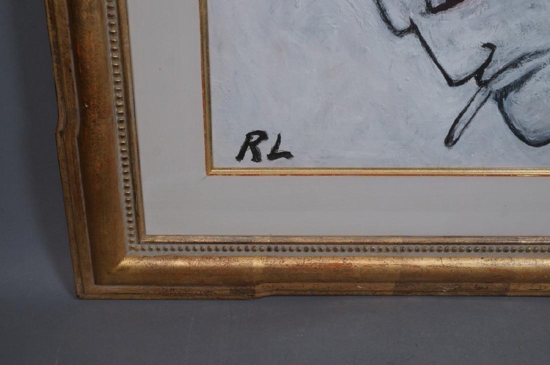 ROBERT LOUGHLIN Black & White Oil. Iconic portrai - 2