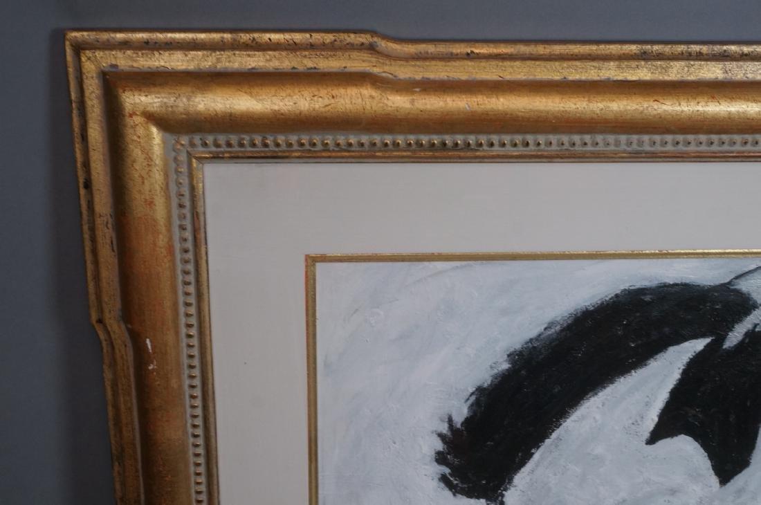 ROBERT LOUGHLIN Black & White Oil. Iconic portrai - 3