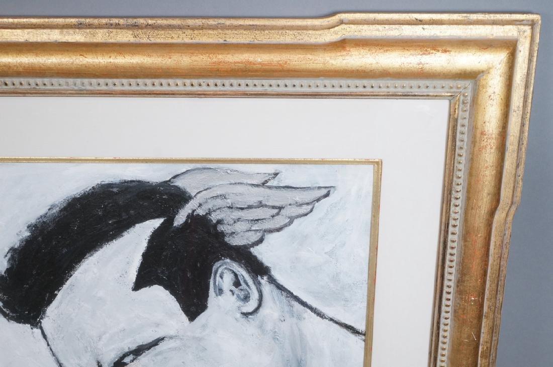 ROBERT LOUGHLIN Black & White Oil. Iconic portrai - 4
