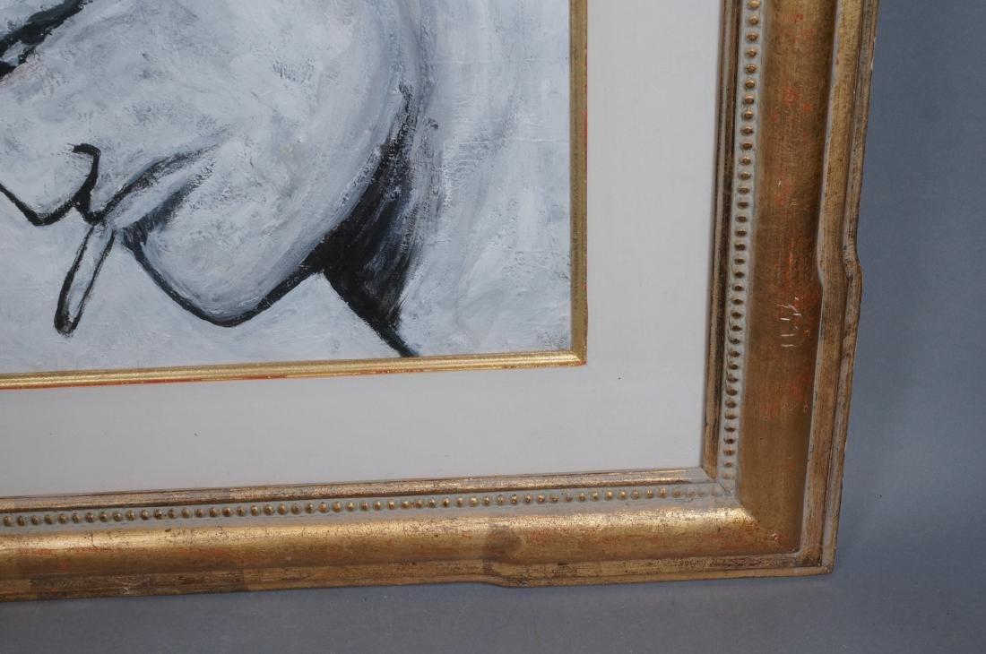 ROBERT LOUGHLIN Black & White Oil. Iconic portrai - 6