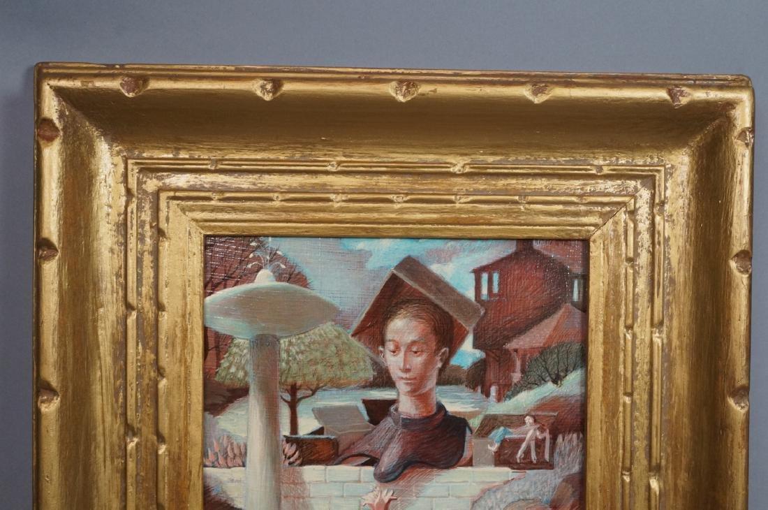 H DAVID HOMAN Surreal Oil Painting Outdoor Scene - 3