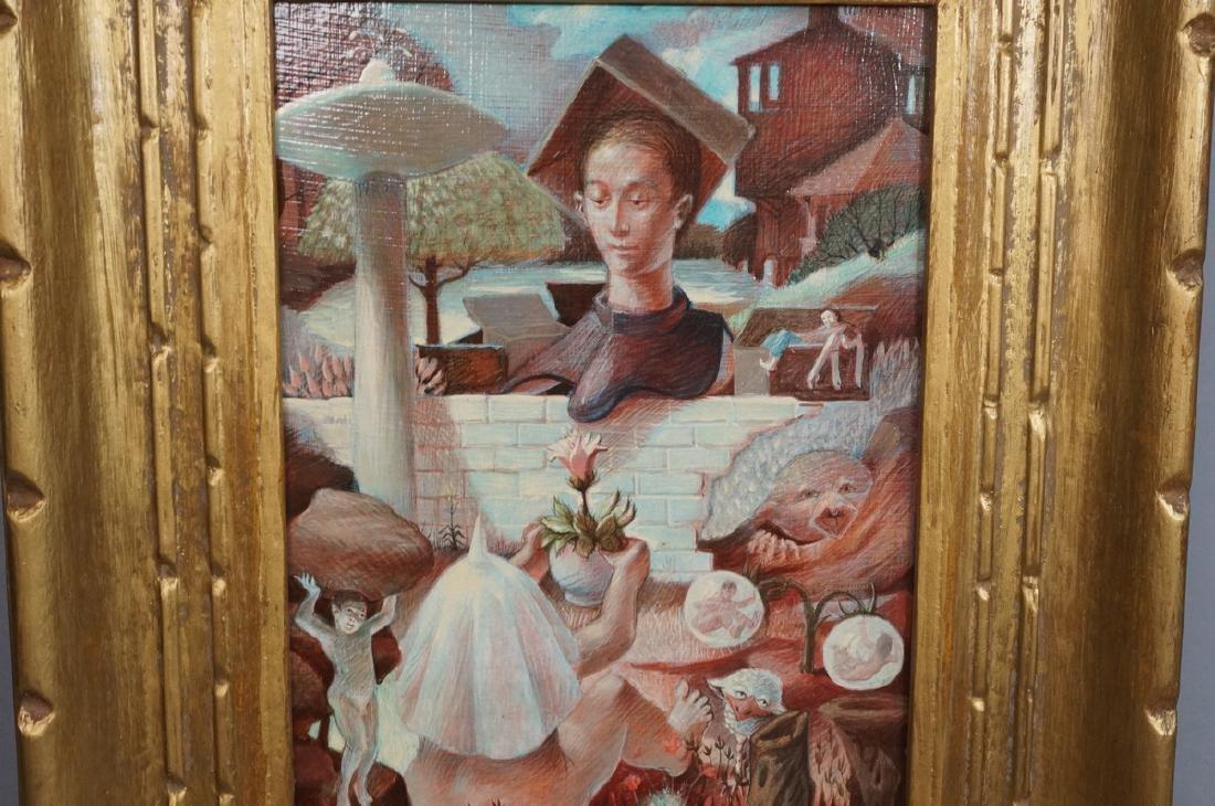 H DAVID HOMAN Surreal Oil Painting Outdoor Scene - 4