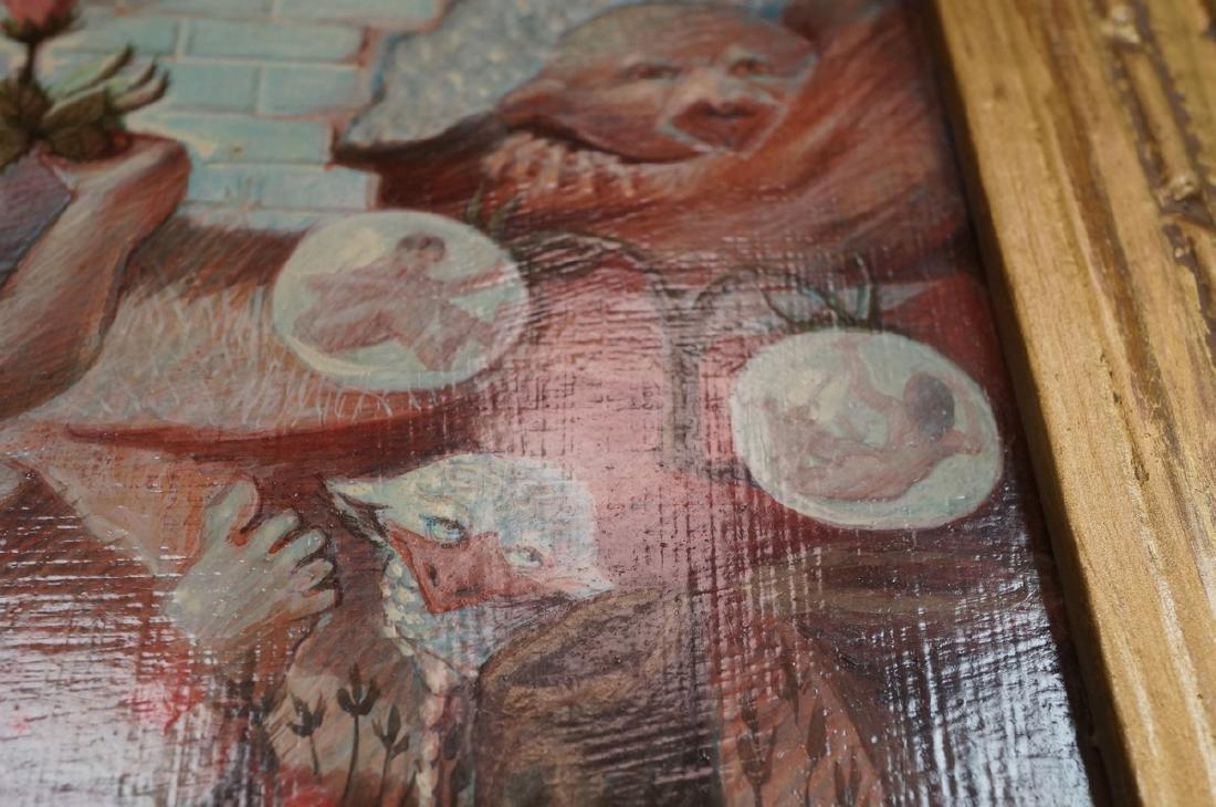 H DAVID HOMAN Surreal Oil Painting Outdoor Scene - 6