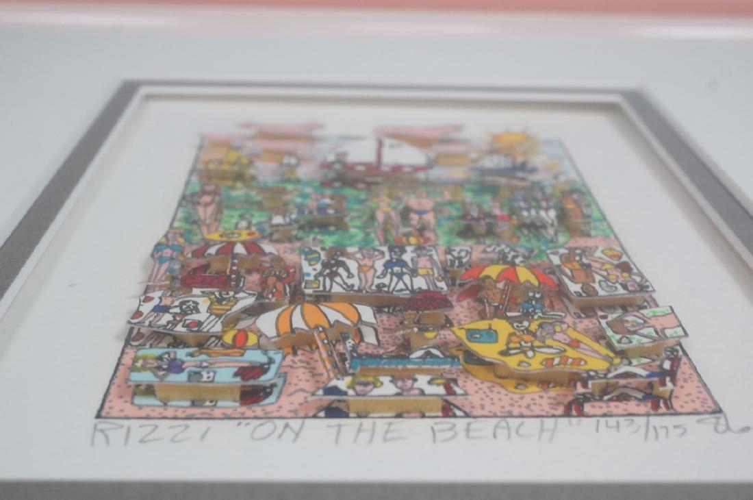 "JAMES RIZZI 3D Litho Print Art ""On the Beach"" Pen - 3"