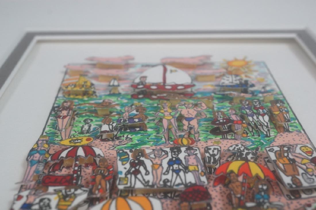 "JAMES RIZZI 3D Litho Print Art ""On the Beach"" Pen - 4"