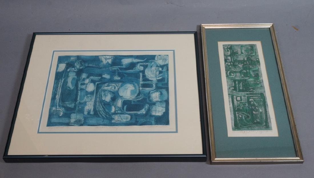 2pc GAY M. HARRIS Graphic Aquatint Prints. Both s