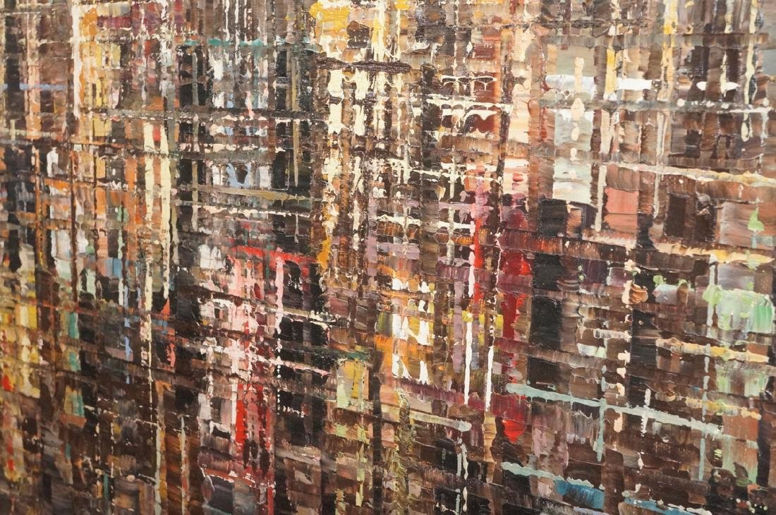 BERTE Modernist Abstract Cityscape Oil Painting. - 7