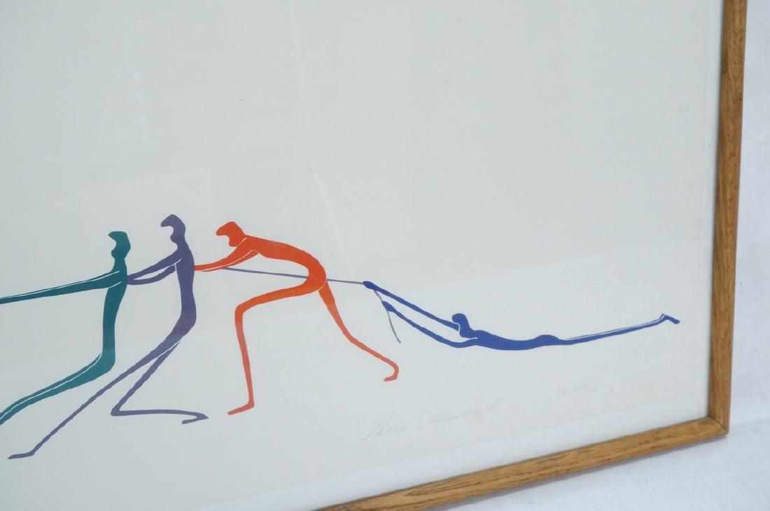 Graphic Figural Silkscreen Print. 2 parts 'Tug of - 7