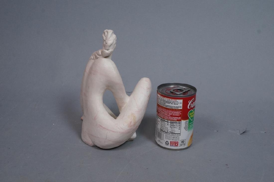 KLARA SEVER Cast Plaster Figural Sculpture. Seate - 5