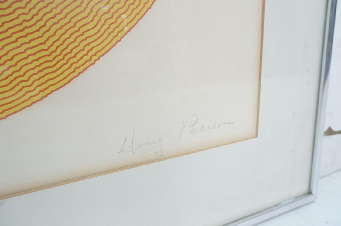 HENRY PEARSON Graphic Op Art Silk Screen Print. M - 2