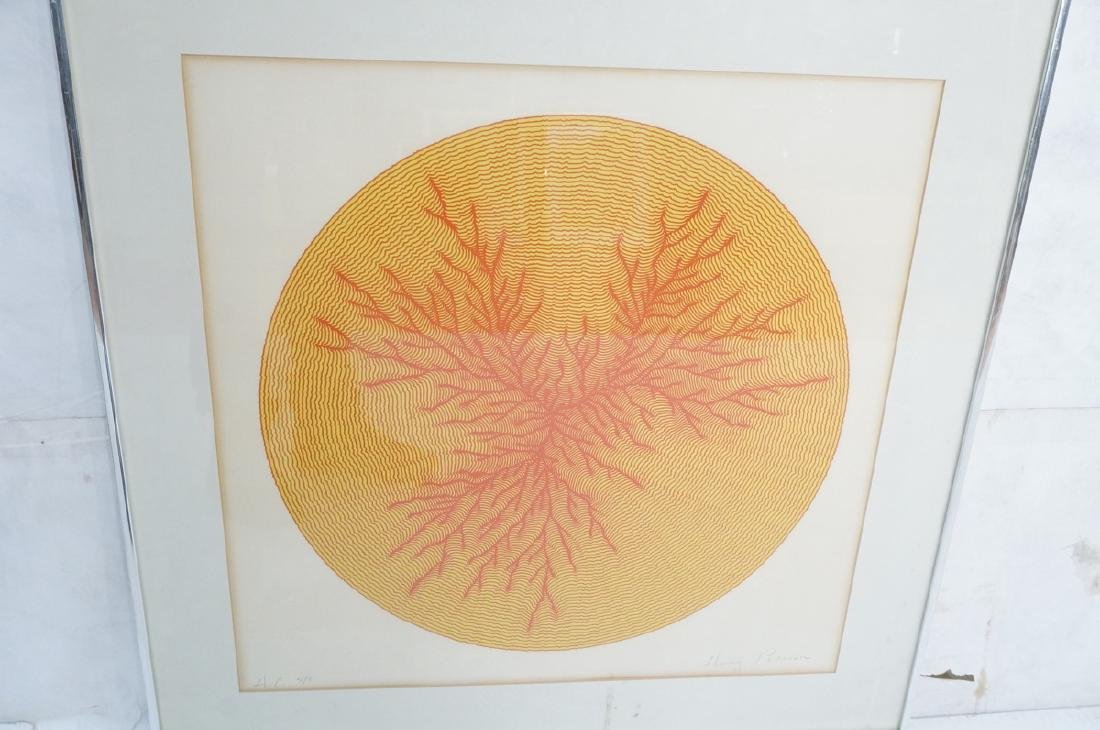 HENRY PEARSON Graphic Op Art Silk Screen Print. M - 3