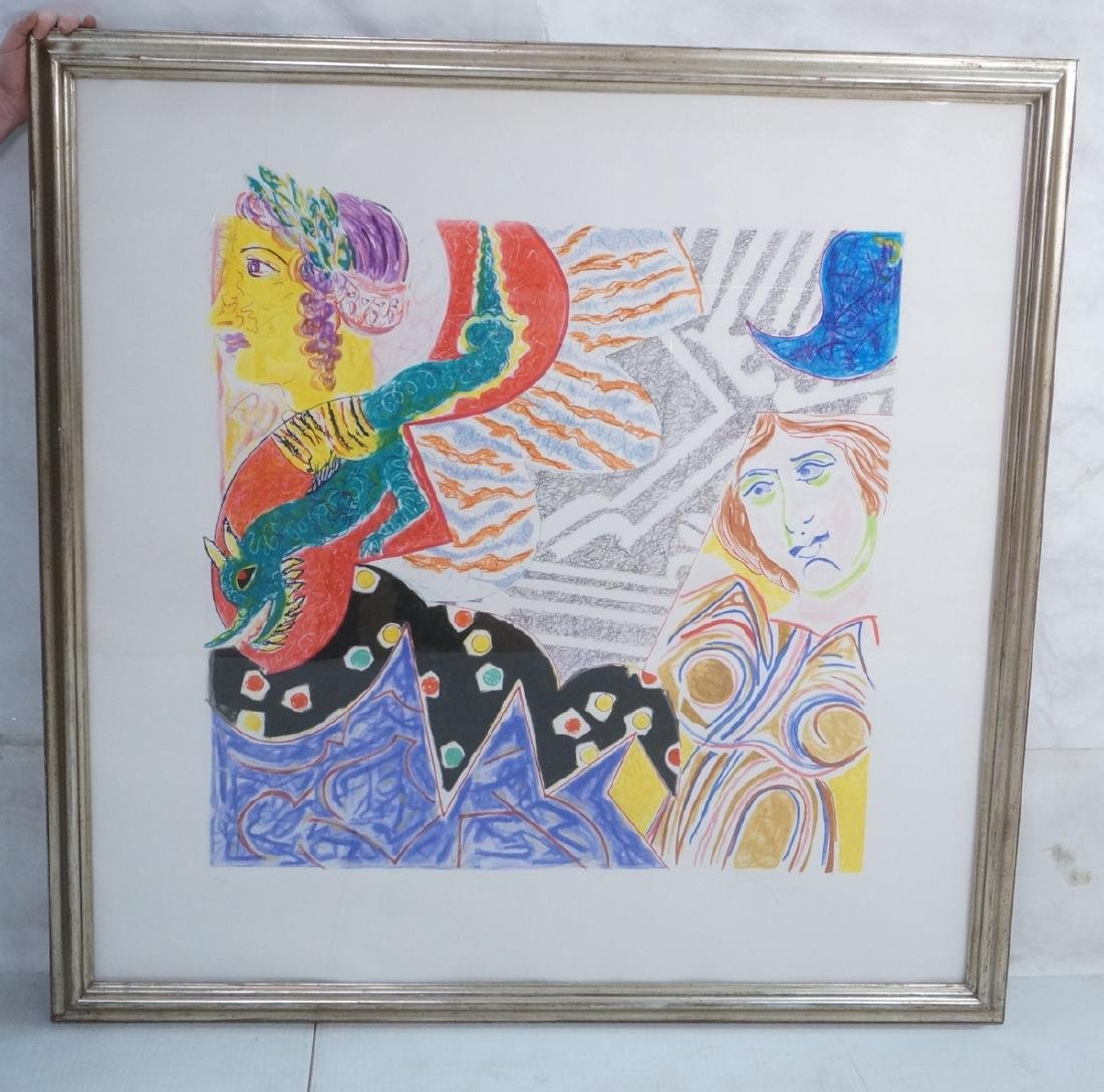 NANCY GRAVES signed Lg Abstract Lithograph Prin. - 2