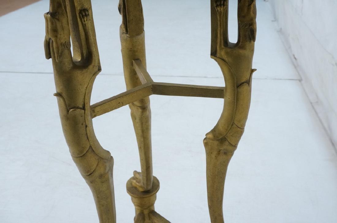 Gilt Bronze Antique Gueridon Table. Round top sup - 3