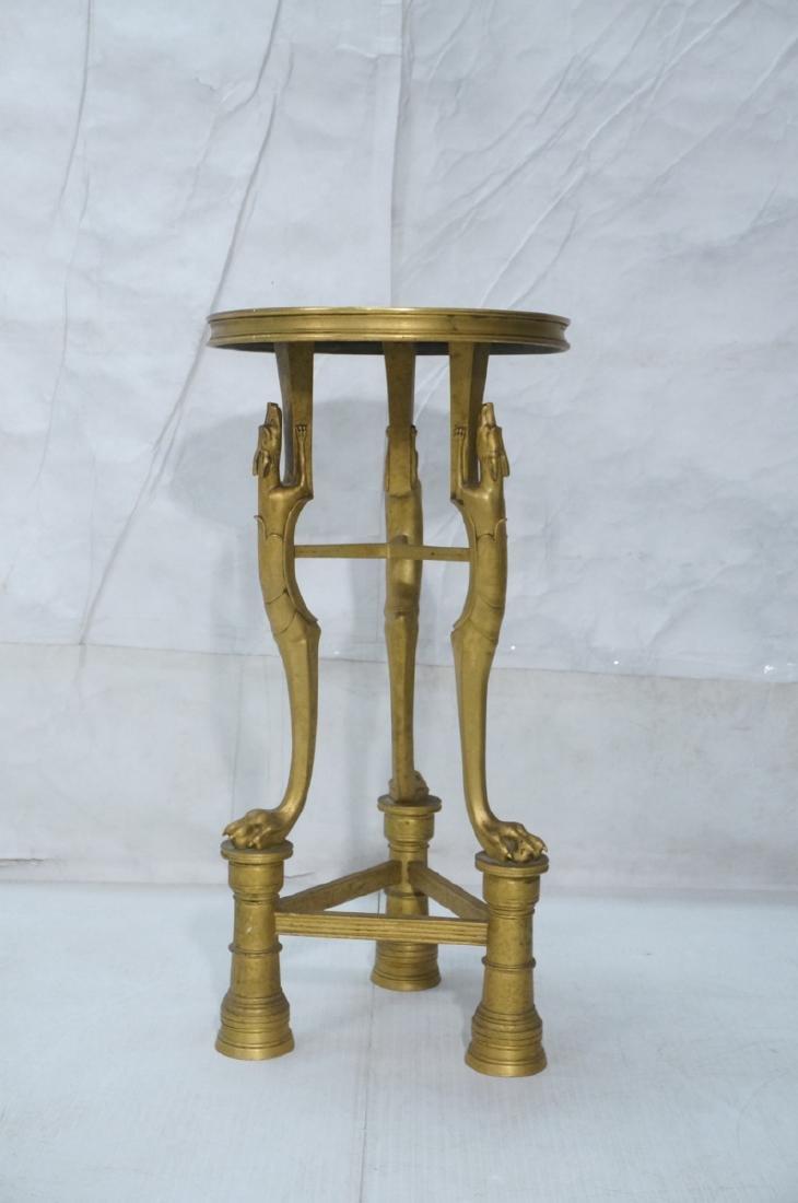 Gilt Bronze Antique Gueridon Table. Round top sup - 5