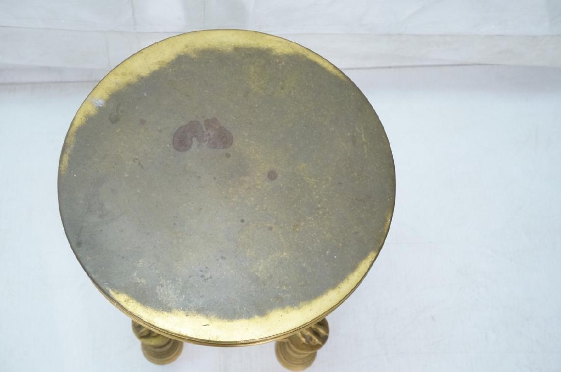 Gilt Bronze Antique Gueridon Table. Round top sup - 6