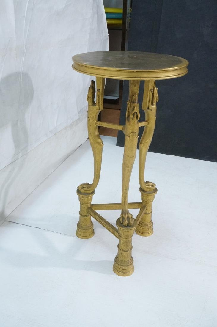 Gilt Bronze Antique Gueridon Table. Round top sup - 7