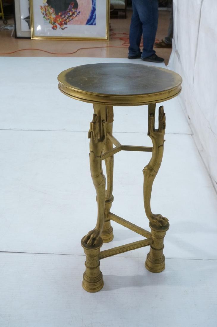 Gilt Bronze Antique Gueridon Table. Round top sup - 8