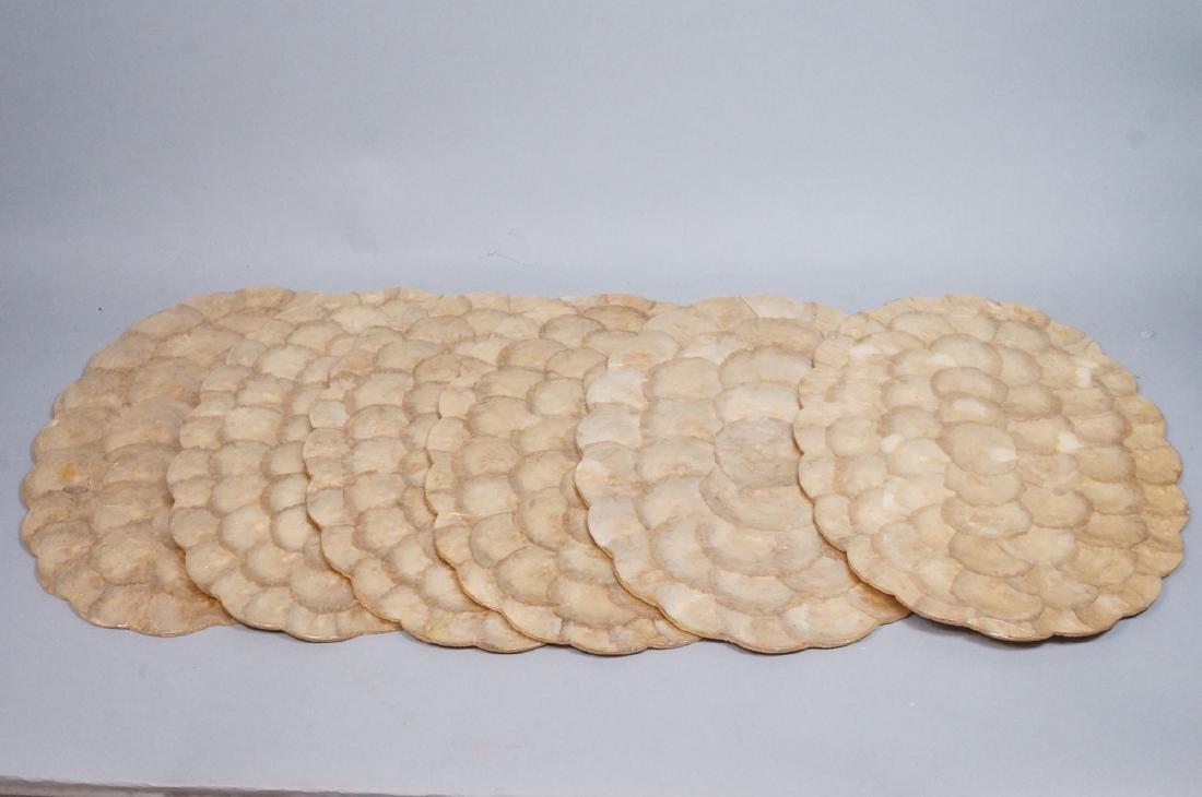 Set 6 Decorator Lacquered Capiz Shell Place mats.