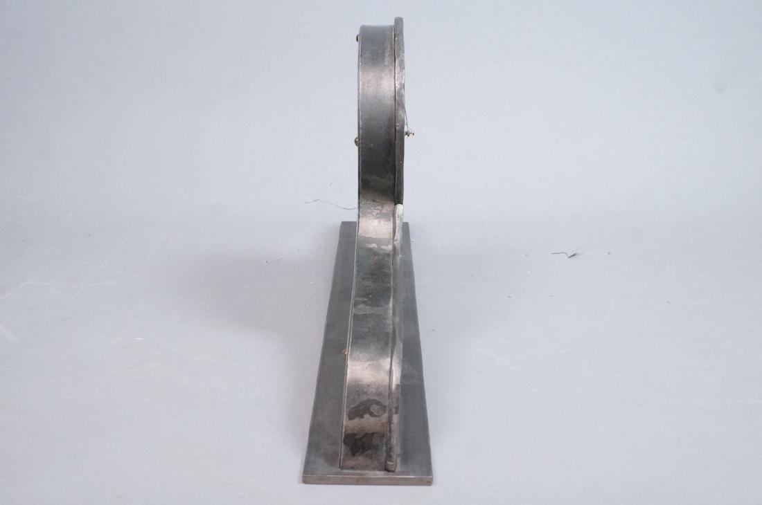 STEVE BECK Stainless & Steel Modern Mantle Clock. - 5