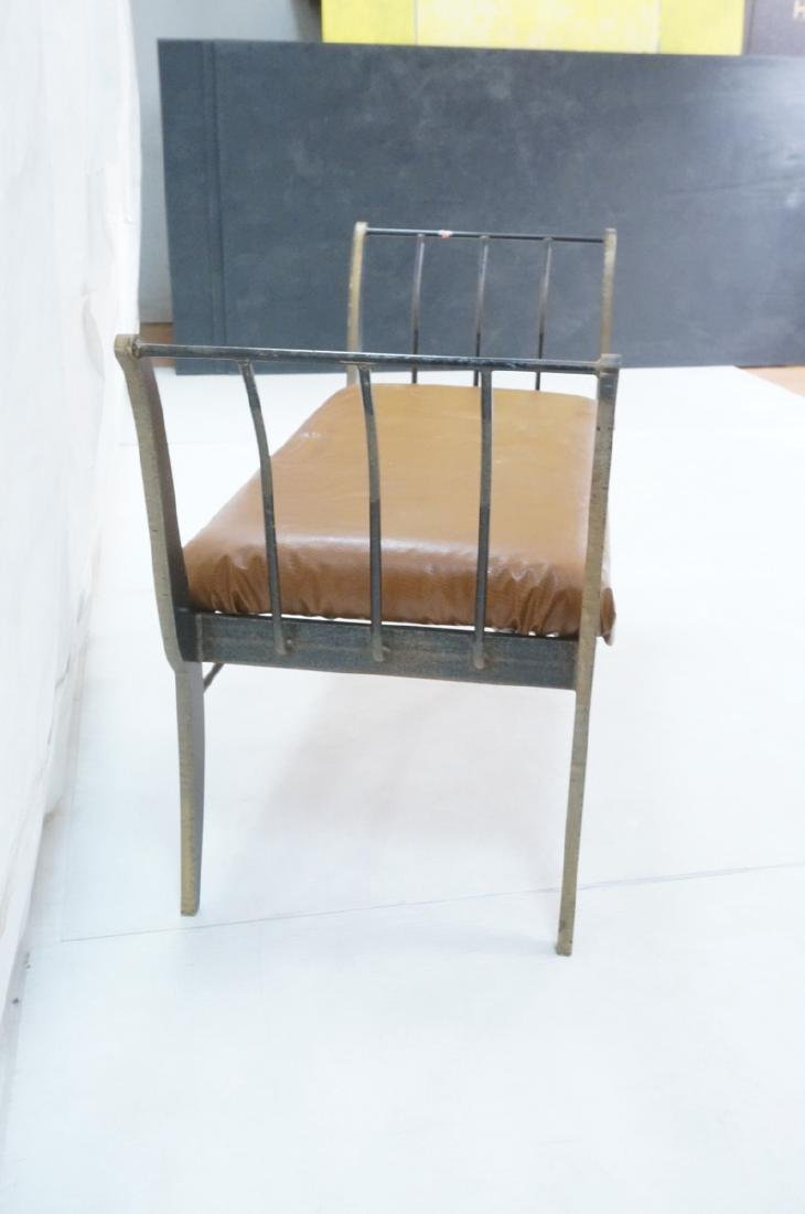 Campaign Style Decorator Heavy Iron Bench. Modern - 3