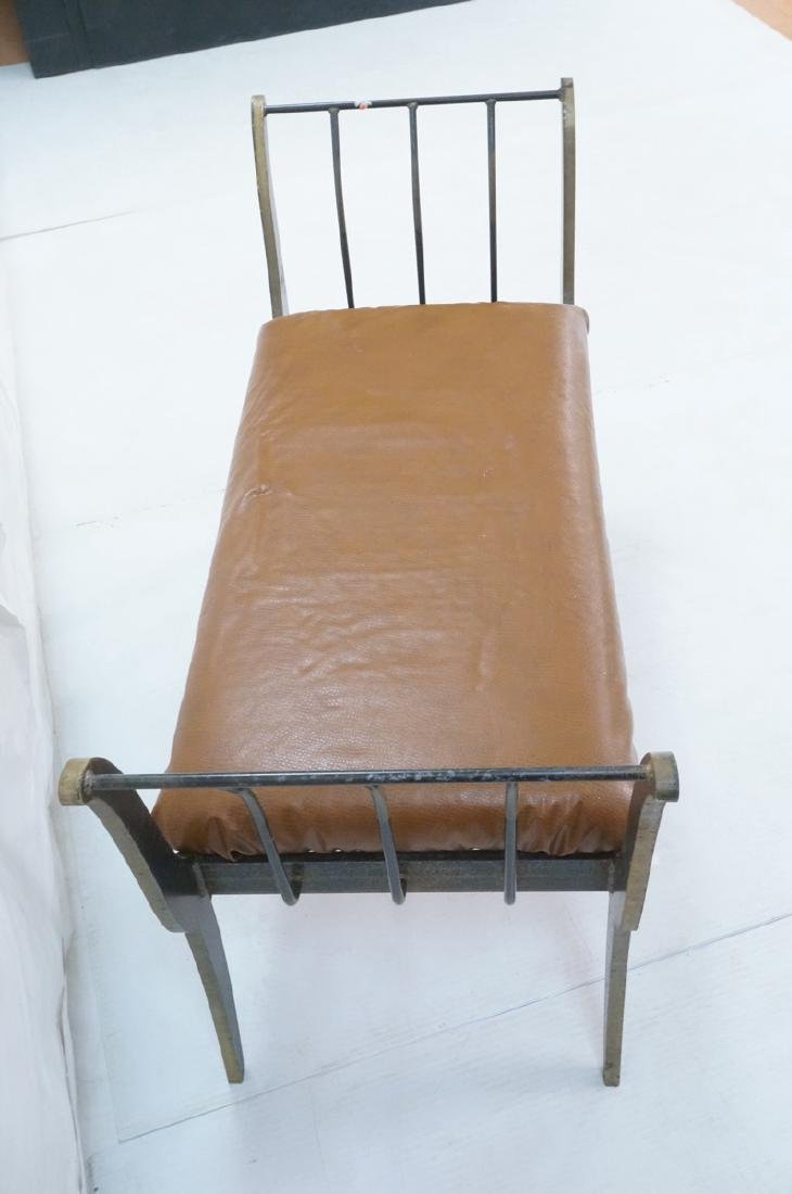 Campaign Style Decorator Heavy Iron Bench. Modern - 4