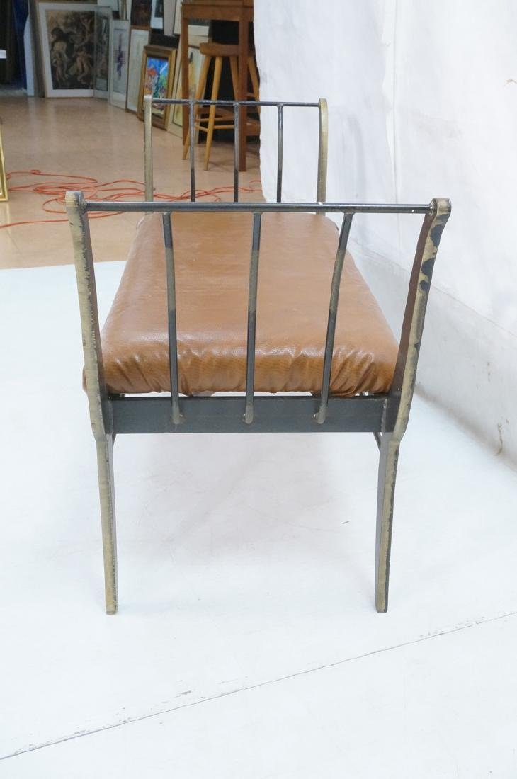 Campaign Style Decorator Heavy Iron Bench. Modern - 5