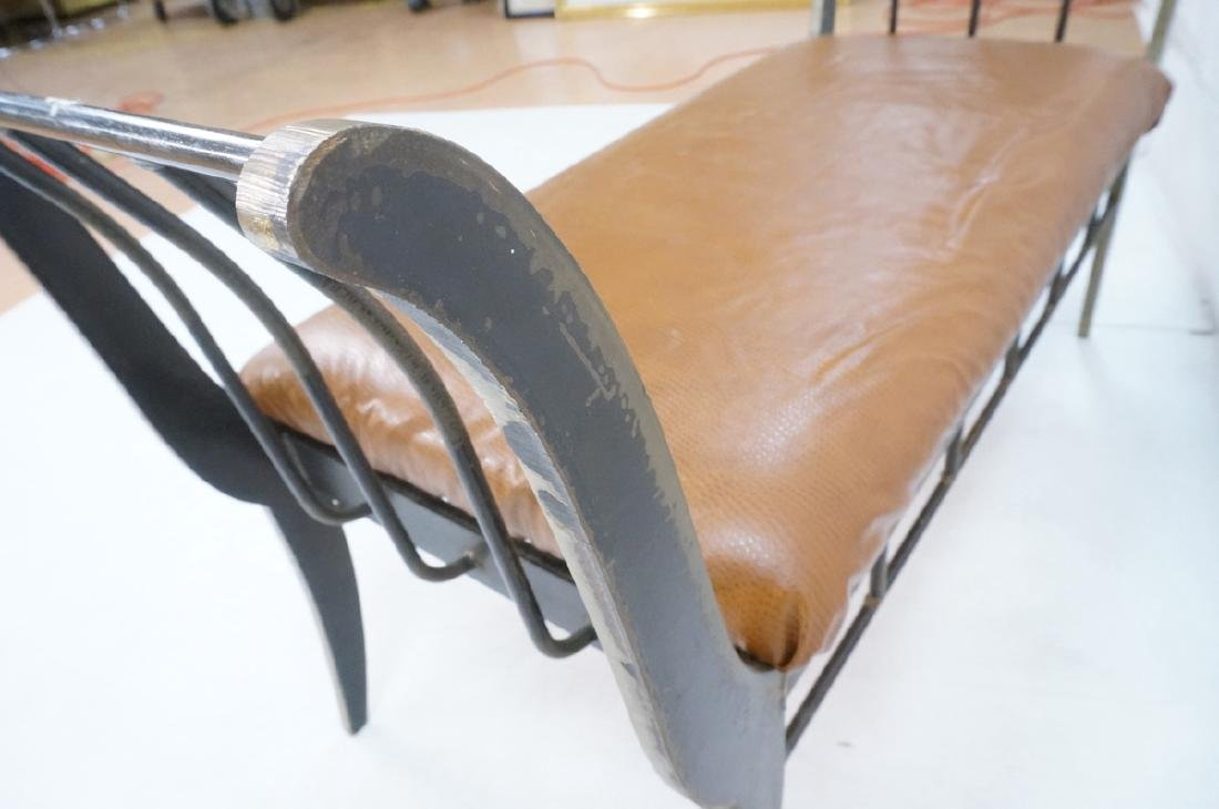 Campaign Style Decorator Heavy Iron Bench. Modern - 7