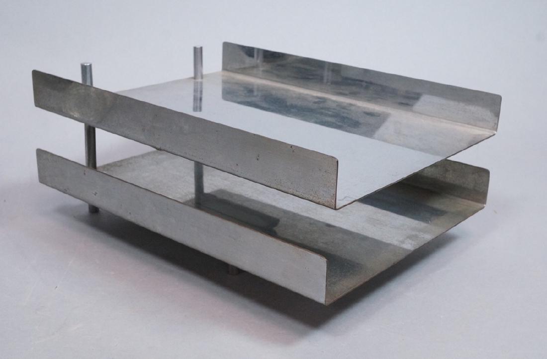 HUGH ACTON Modern Chrome Steel Desk Accessory 2 t
