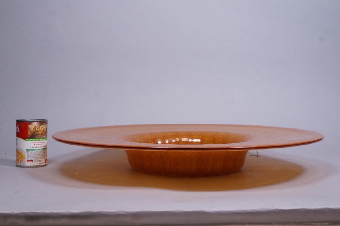 Murano Art Glass Large Italian Charger. Mottled g - 2