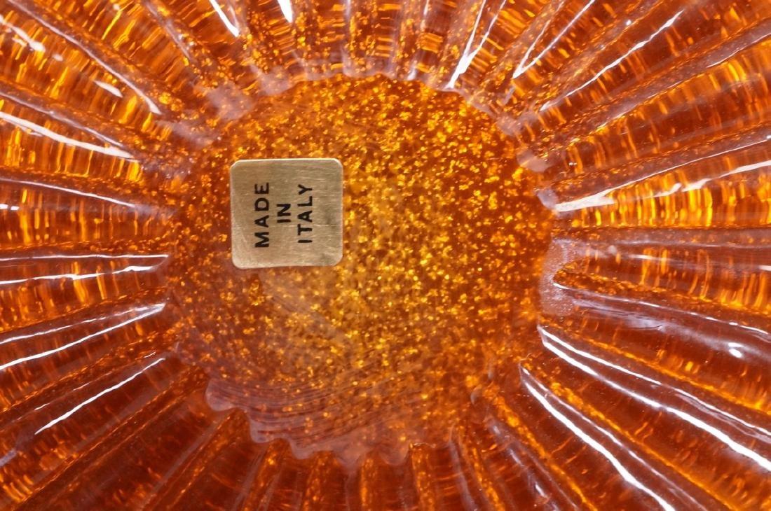 Murano Art Glass Large Italian Charger. Mottled g - 3