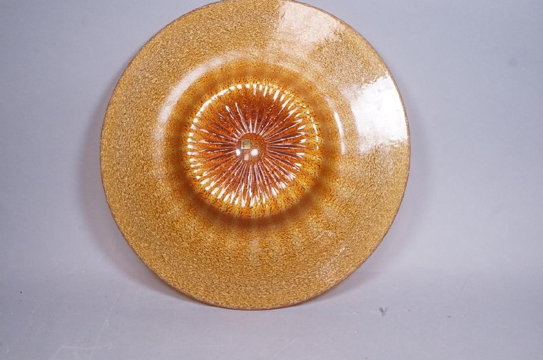 Murano Art Glass Large Italian Charger. Mottled g - 6