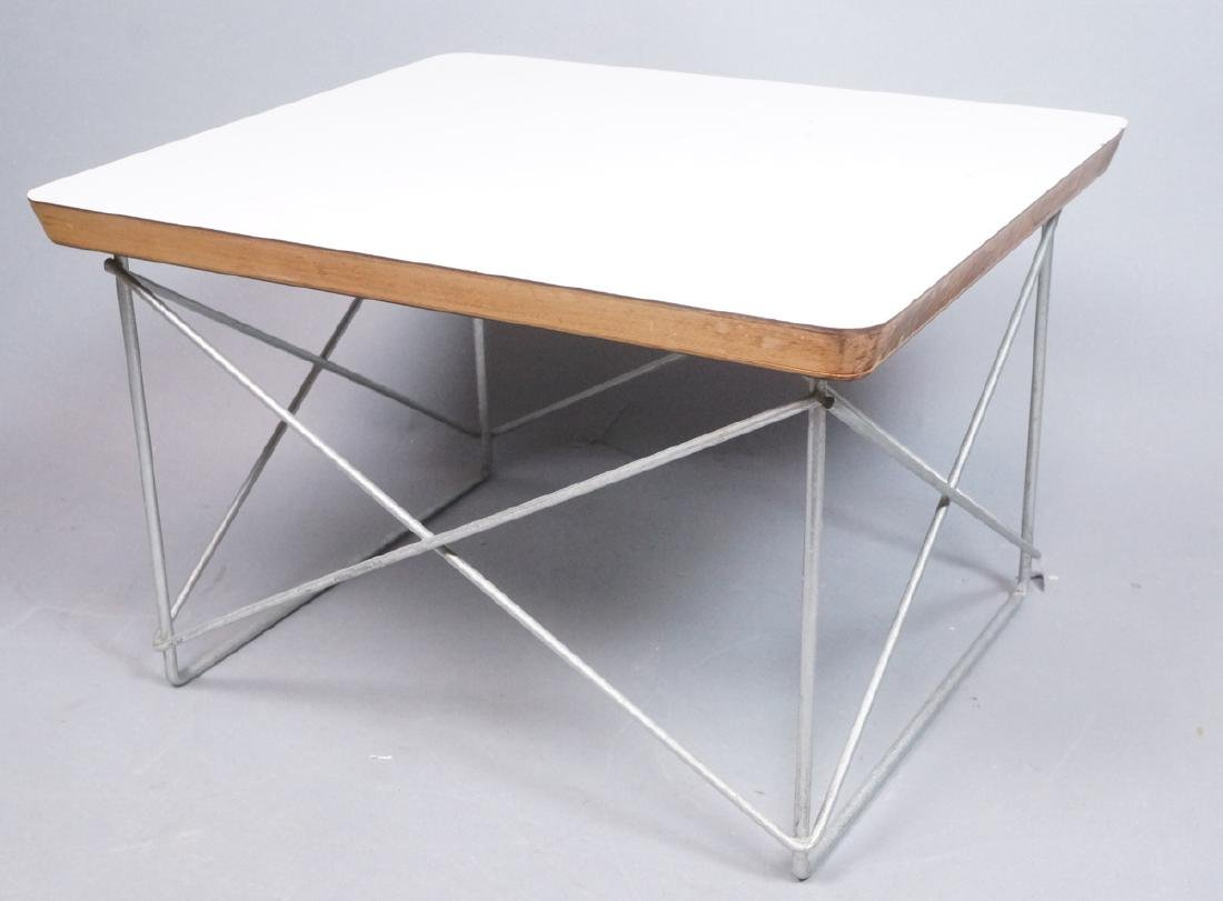 CHARLES EAMES Wire Frame Table LTR Model. White l
