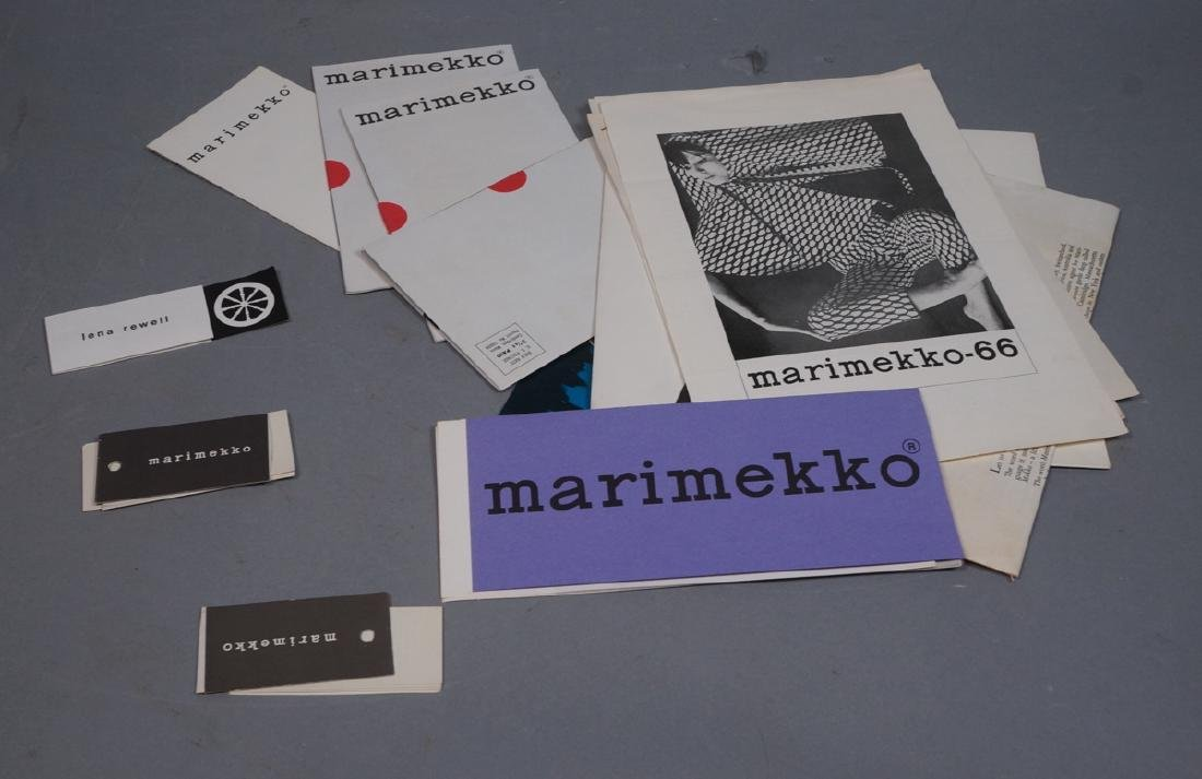 Lot Of Modern Design Ephemera. MARIMEKKO Textiles