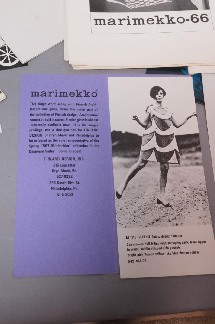 Lot Of Modern Design Ephemera. MARIMEKKO Textiles - 2