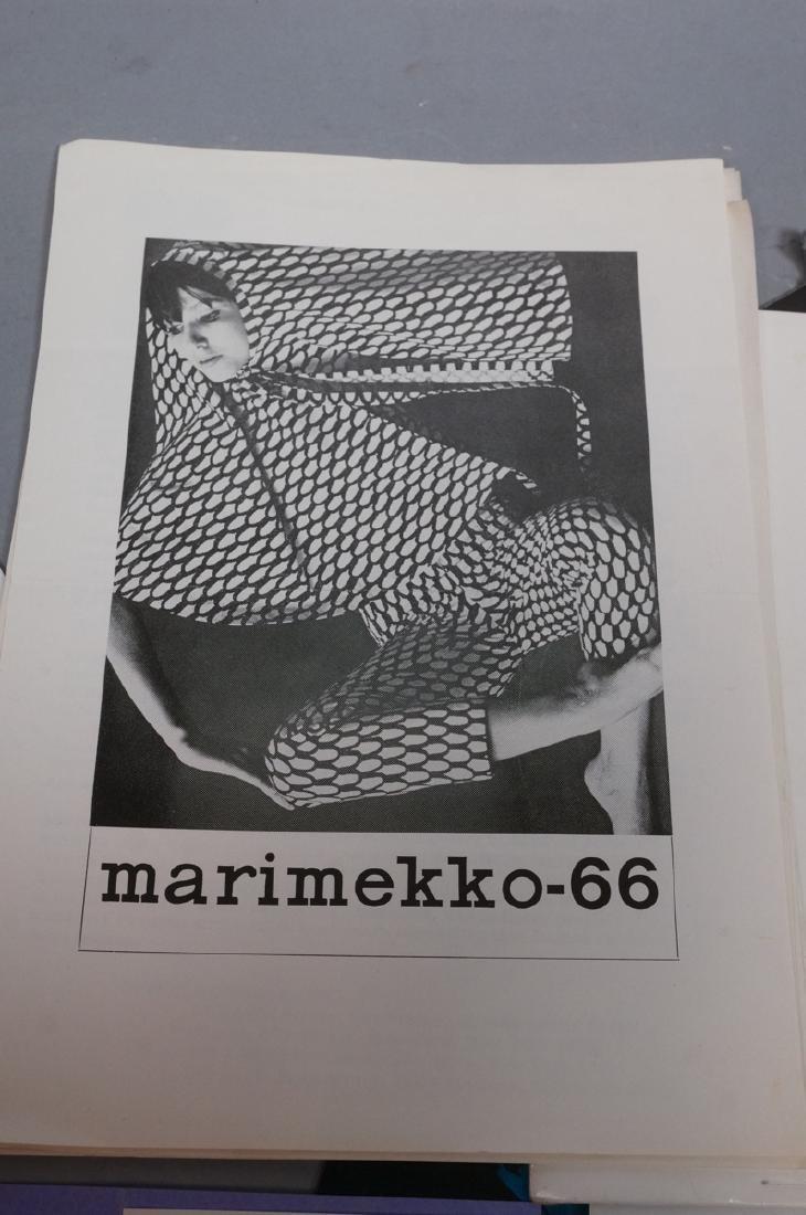 Lot Of Modern Design Ephemera. MARIMEKKO Textiles - 3